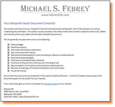 nonprofit-audit-document-checklist-1 4 Ways to Make a Nonprofit Audit Less Scary